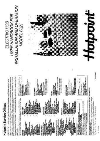 Hotpoint HB6321 Operating Guide by download Mauritron #312028