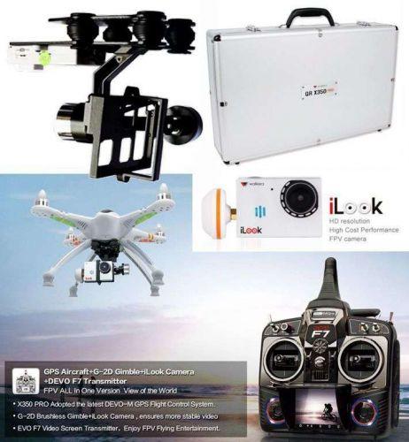 Walkera GPS FPV QR X350 PRO DEVO F7 & ilook HD Camera & G-2D Gimbal & Alu Case