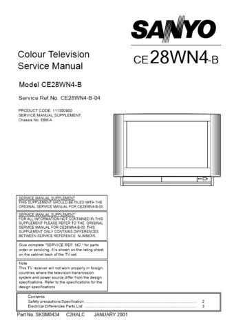 Sanyo. CE28WN4-B-04 (2) Manual by download Mauritron #312611