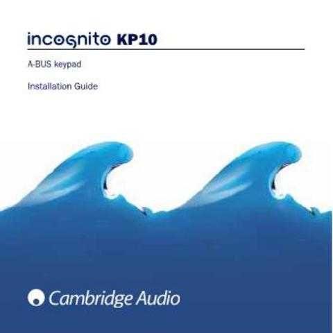 Cambridge Audio IncognitoKP10EUInstallationGuide-English by download Mauritron #31183