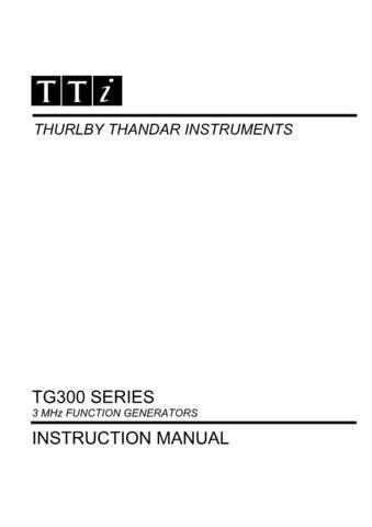 Thandar TG300 Series Operating Guide - by download Mauritron #317736