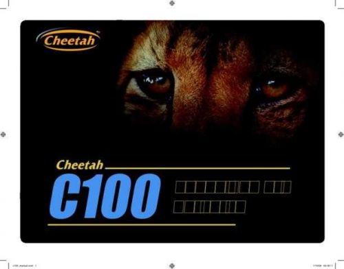 Cheetah_C100_manual by download Mauritron #306909