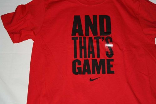 """New Men's Nike Graphic T-shirt """"And That's Game"""" Size Large"""