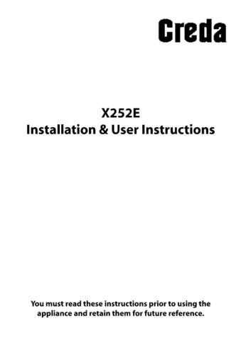 Creda X252E Operating Guide by download Mauritron #313022