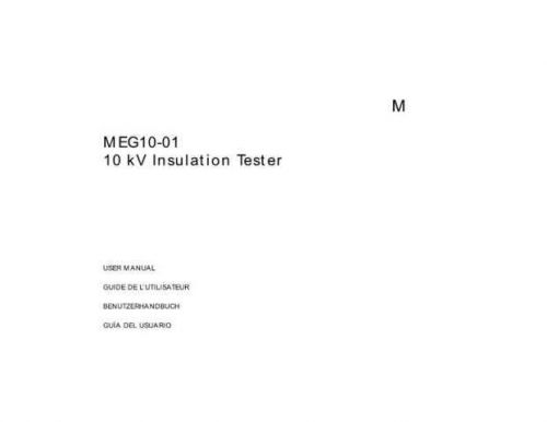 Biddle AVO10-01 Operating Guide by download Mauritron #309421