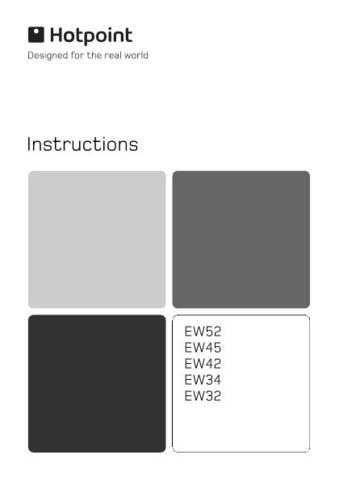 Hotpoint EW32 EW34 EW42 EW45 EW52 19504417801(2) Operating Guide by download Mauritro