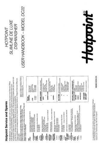Hotpoint DC-26 Dishwasher Operating Guide by download Mauritron #313553