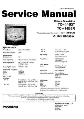 Panasonic TC_11LV1_ENGLISH Manual by download Mauritron #301817