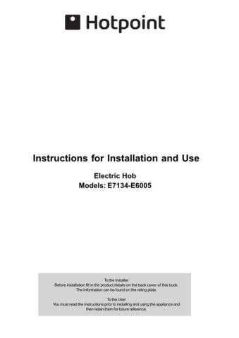 Hotpoint E6005 E7134(2) Operating Guide by download Mauritron #311955