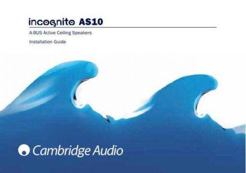 Cambridge Audio IncognitoAS10InstallationGuide-English by download Mauritron #311835