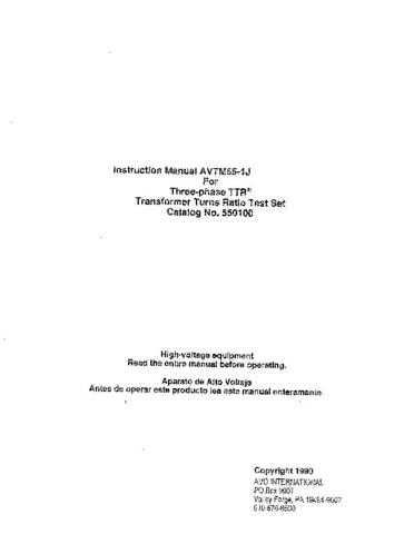 AVO 550100 Operating Guide by download Mauritron #308785