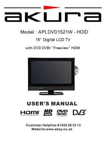 Akura APLDVD1521W HDID I Book Service Manual by download Mauritron #330290