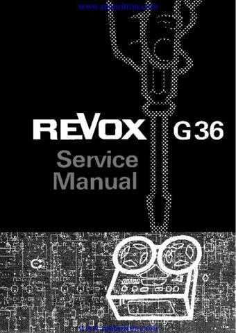 Revox G36 Tape Recorder Manual by download Mauritron #312253