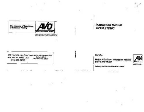 AVO 21-80J Operating Guide by download Mauritron #308710