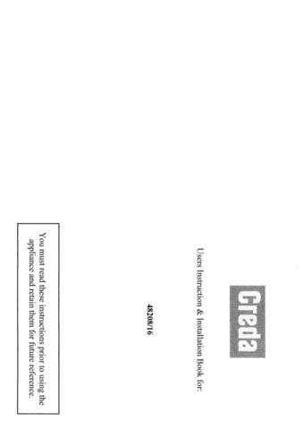 Creda HB48216 Operating Guide by download Mauritron #312890