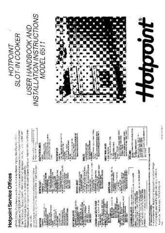 Hotpoint HB6511 Operating Guide by download Mauritron #312049