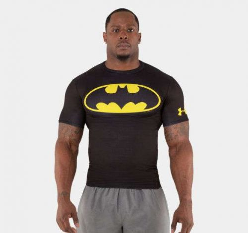 Men's UNDER ARMOUR Alter Ego, Batman Compression Workout Shirt; NWT Size - Large