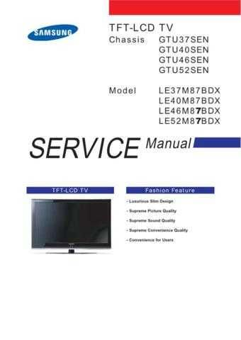Samsung LE40M87BDX Manual by download Mauritron #329883