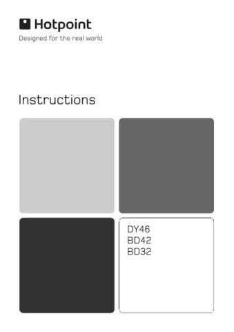 Hotpoint Z BD32 Operating Guide by download Mauritron #312139