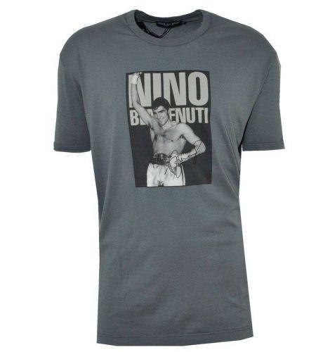 DOLCE & GABBANA T-SHIRT NINO BENVENUTI GREY 01997, Authentic Made in Italy