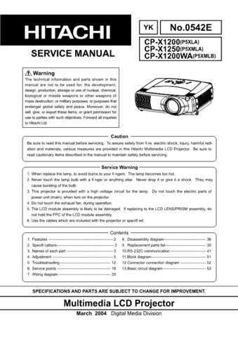 Hitachi CPX275service6drv3 Service Manual by download Mauritron #289254