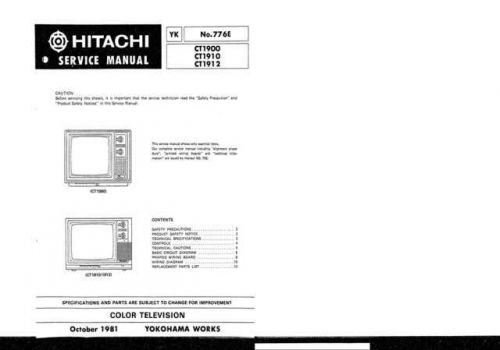 Hitachi CT1324 Service Manual by download Mauritron #289375