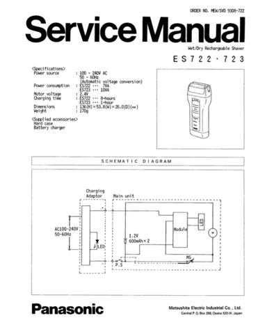Panasonic SVD9503725 Manual by download Mauritron #301755
