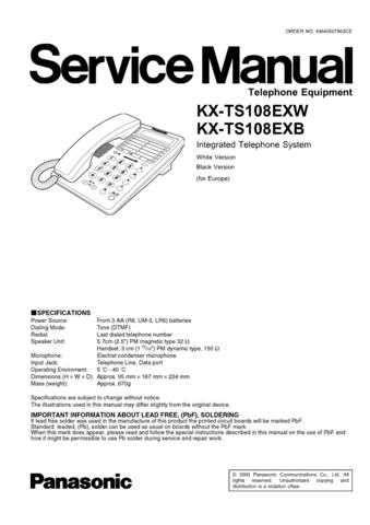 Panasonic TS108EX_3 Manual by download Mauritron #302411