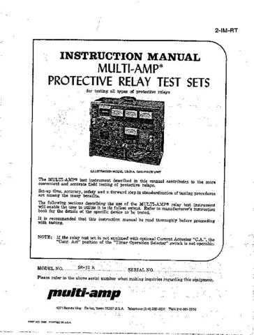 Biddle SR51A Operating Guide by download Mauritron #309806