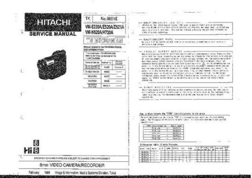 Hitachi VM-H720A-2 Technical Service Repair Information. CDC-2063 by download Mauritr