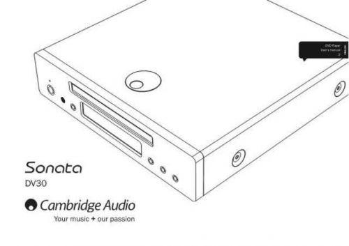 Cambridge Audio AP239712ACASonataDV30UserManual01English by download Mauritron #31179