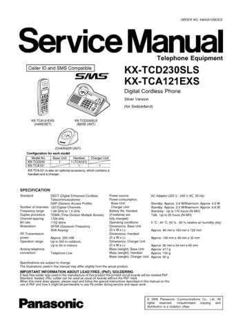 Panasonic KX-TCA121EXS Manual by download Mauritron #299657