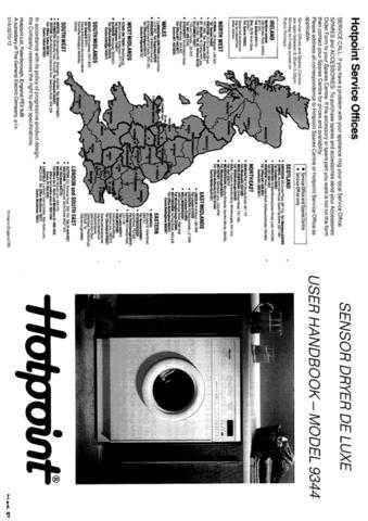 Hotpoint 9344 Dryer Operating Guide by download Mauritron #313389