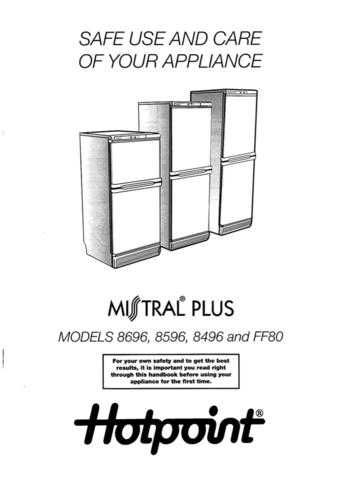 Hotpoint 8496 Refrigeration Operating Guide by download Mauritron #313351