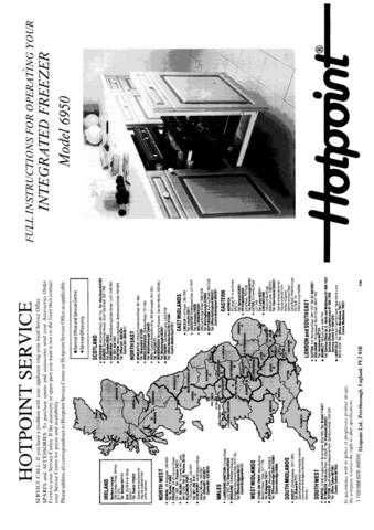 Hotpoint 6950 Refrigeration Operating Guide by download Mauritron #313308