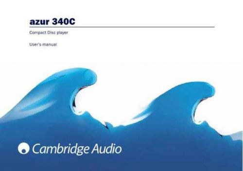 Cambridge Audio Azur340CUserManual-English by download Mauritron #311808