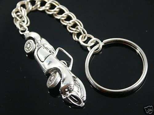 Shelby Cobra mens Key chain Sterling Silver
