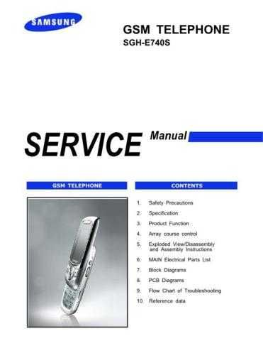 Samsung SGH-E740S Mobile Phone Service Manual by download Mauritron #306345