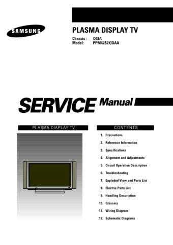 Samsung PPM42S2X_SM Service Manual by download Mauritron #322624