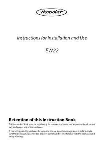 Hotpoint EW22 Operating Guide by download Mauritron #311989