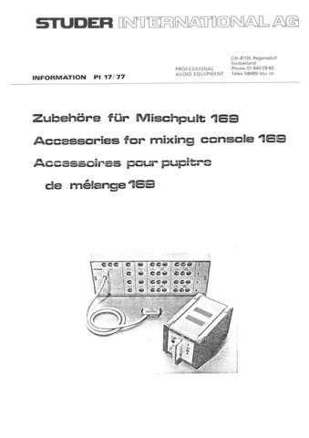 Studer PI_1977-17_DEF_169_Accessories by download Mauritron #313216