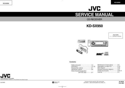 JVC KD-SX950 Service Manual Circuits Schematics by download Mauritron #275306