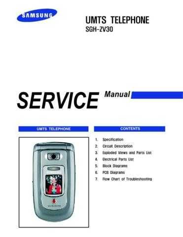 Samsung SGH-ZV30 Mobile Phone Service Manual by download Mauritron #306502