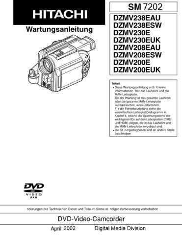 Hitachi DZMV270ESW_EN Service Manual by download Mauritron #290007