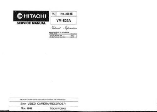 Hitachi VME53A1 Service Manual by download Mauritron #291083