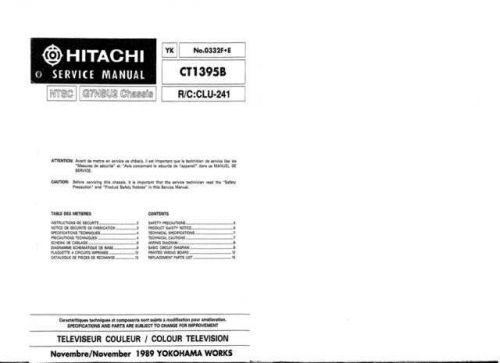 Hitachi YK-0332F-E Service Manual by download Mauritron #287499