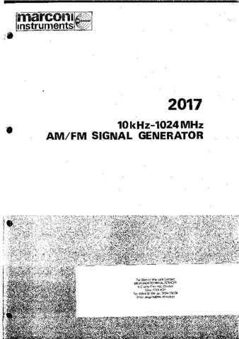 MARCONI 2017 Service Manual by download Mauritron #330807
