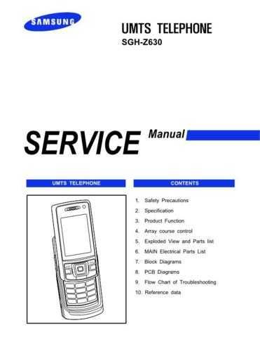 Samsung SGH-Z630 Mobile Phone Service Manual by download Mauritron #306497