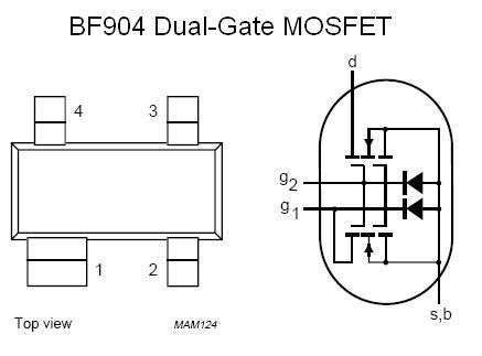 SMT FET - BSP125 N-Channel, Small-Signal Amplifier (SOT-223) - 15 Pieces