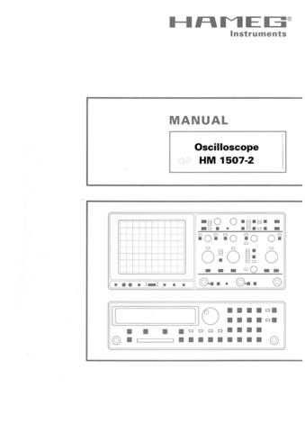 Hameg HM1507 2 Operating Guide by download Mauritron #307144